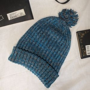Black and Blue Winter Hat